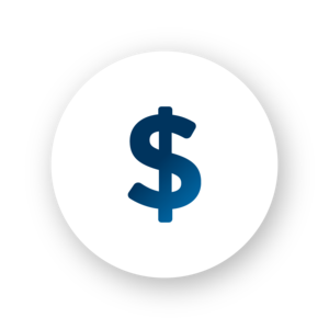 Financial assistance dollar sign icon